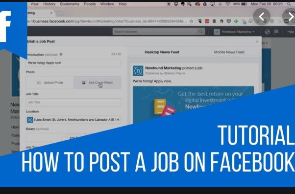 How To Post Your Job On Facebook  | Facebook Jobs Posting