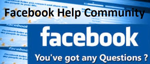 facebook help community