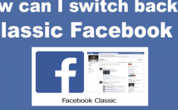 how can i switch back to classic facebook