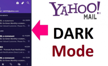 Yahoo mail dark mode