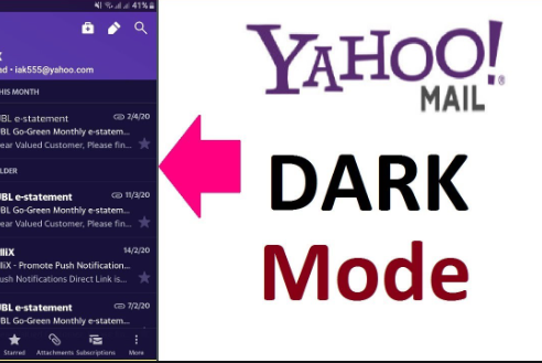 Yahoo mail dark mode