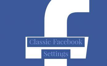 classic Facebook settings