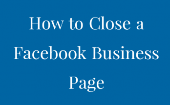 how to close a facebook business page