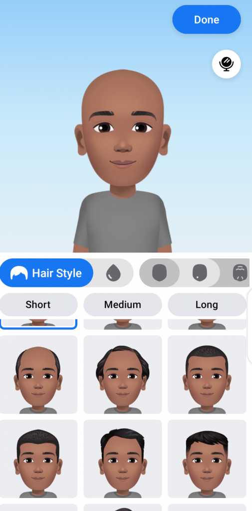 create facebook avatar hairstyle