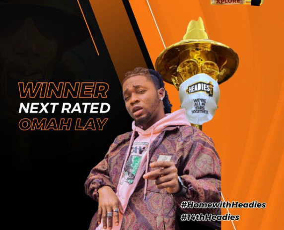 Omah Lay won the Next Rated Headies Category