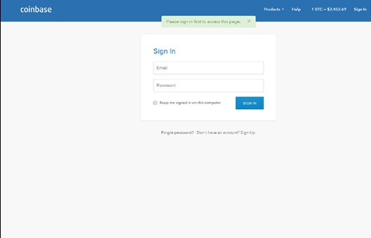 How to Sign in to Coinbase Account